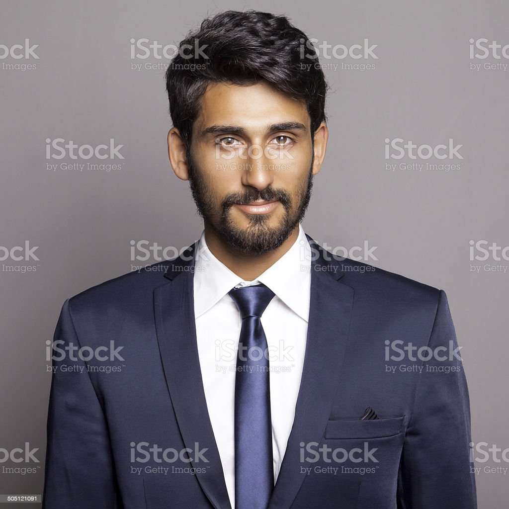 Portrait of Middle Eastern Businessman stock photo