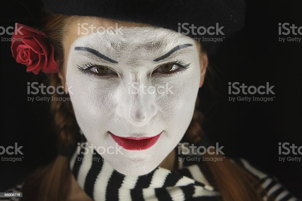 Portrait of mime royalty-free stock photo