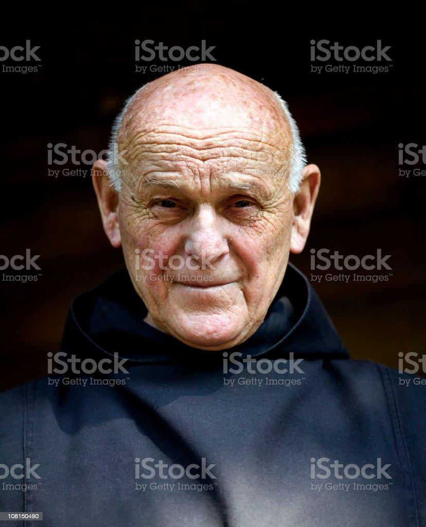 Portrait of Monk royalty-free stock photo