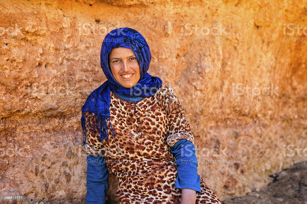 Portrait of Moroccan young girl stock photo