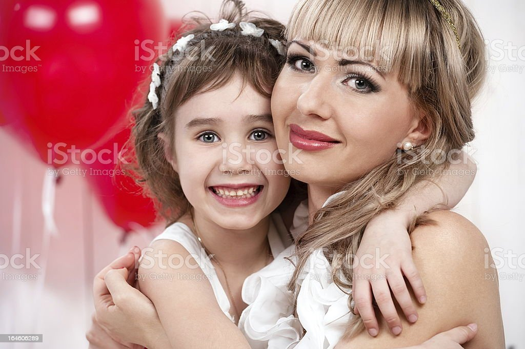 Portrait of mother and daughter royalty-free stock photo