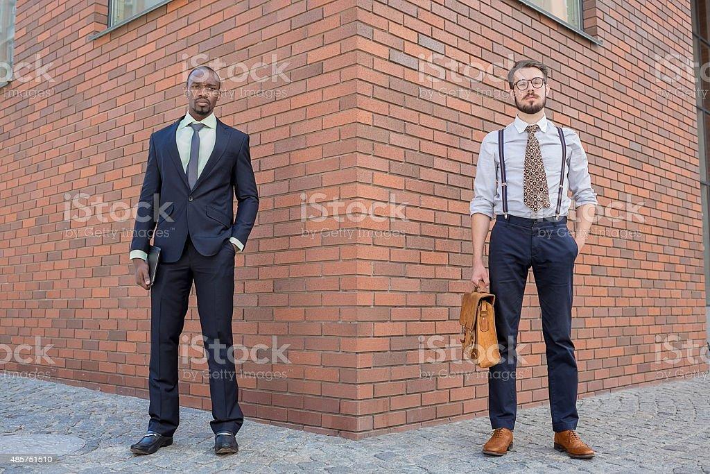 Portrait of multi ethnic business team stock photo