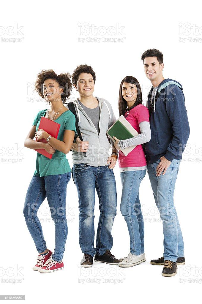 Portrait Of Multi Ethnic Students stock photo