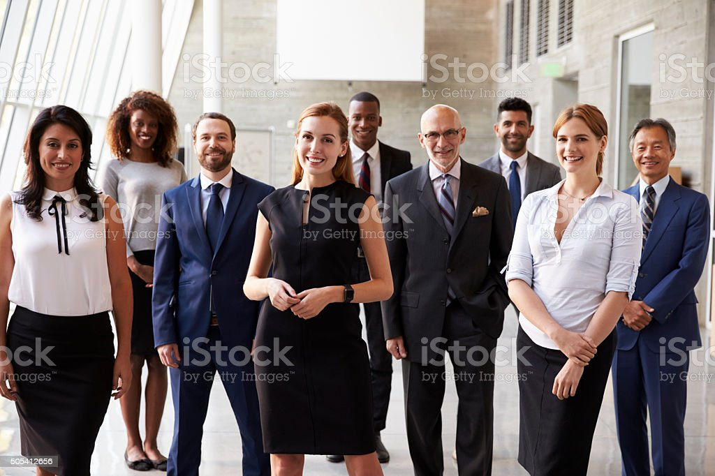Portrait Of Multi-Cultural Business Team In Office royalty-free stock photo