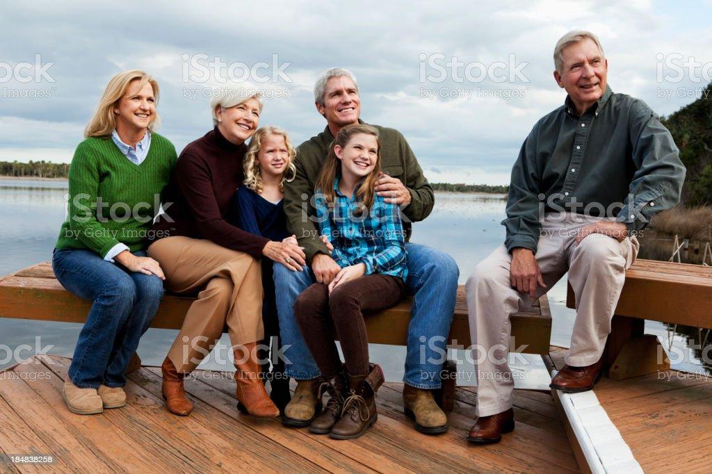 Portrait of multi-generation family royalty-free stock photo