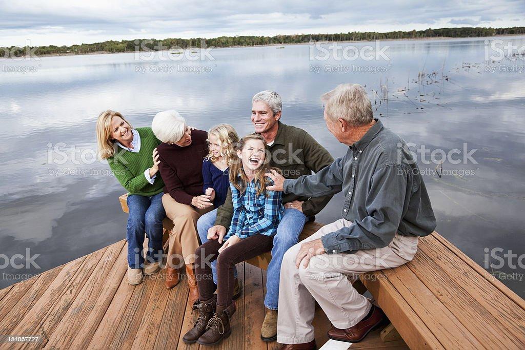 Portrait of multi-generation family stock photo