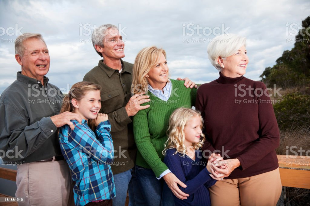 Portrait of multi-generation family royalty-free stock photo