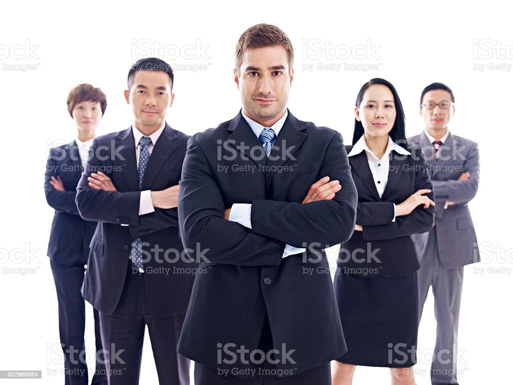 portrait of multinational business team stock photo