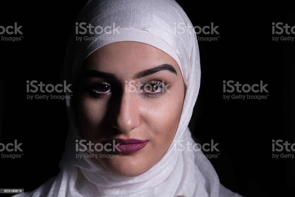 Portrait of Muslim Girl stock photo