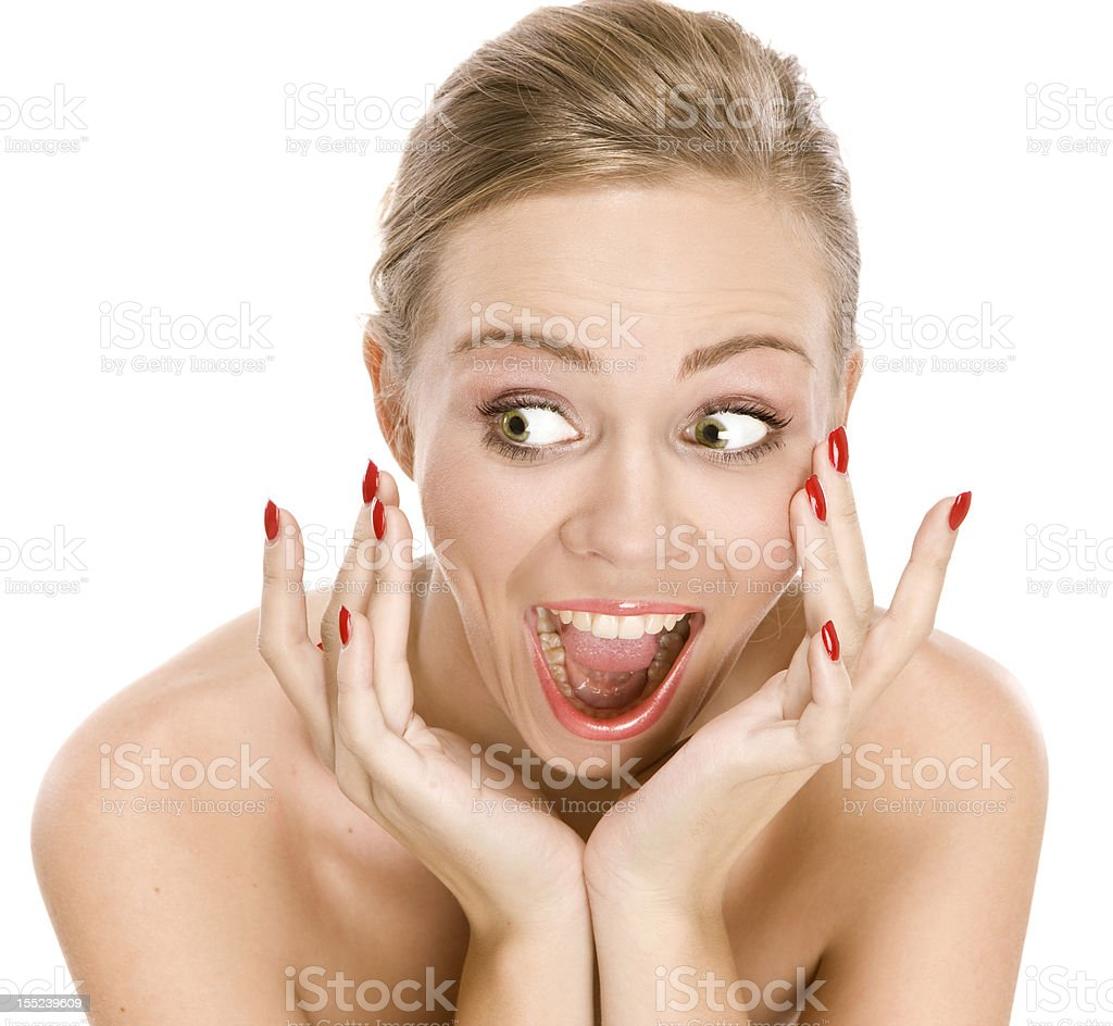 portrait of natural beauty girl positive emotions stock photo