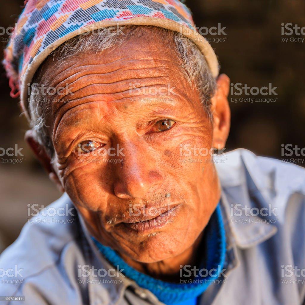 Portrait of Nepali potter stock photo