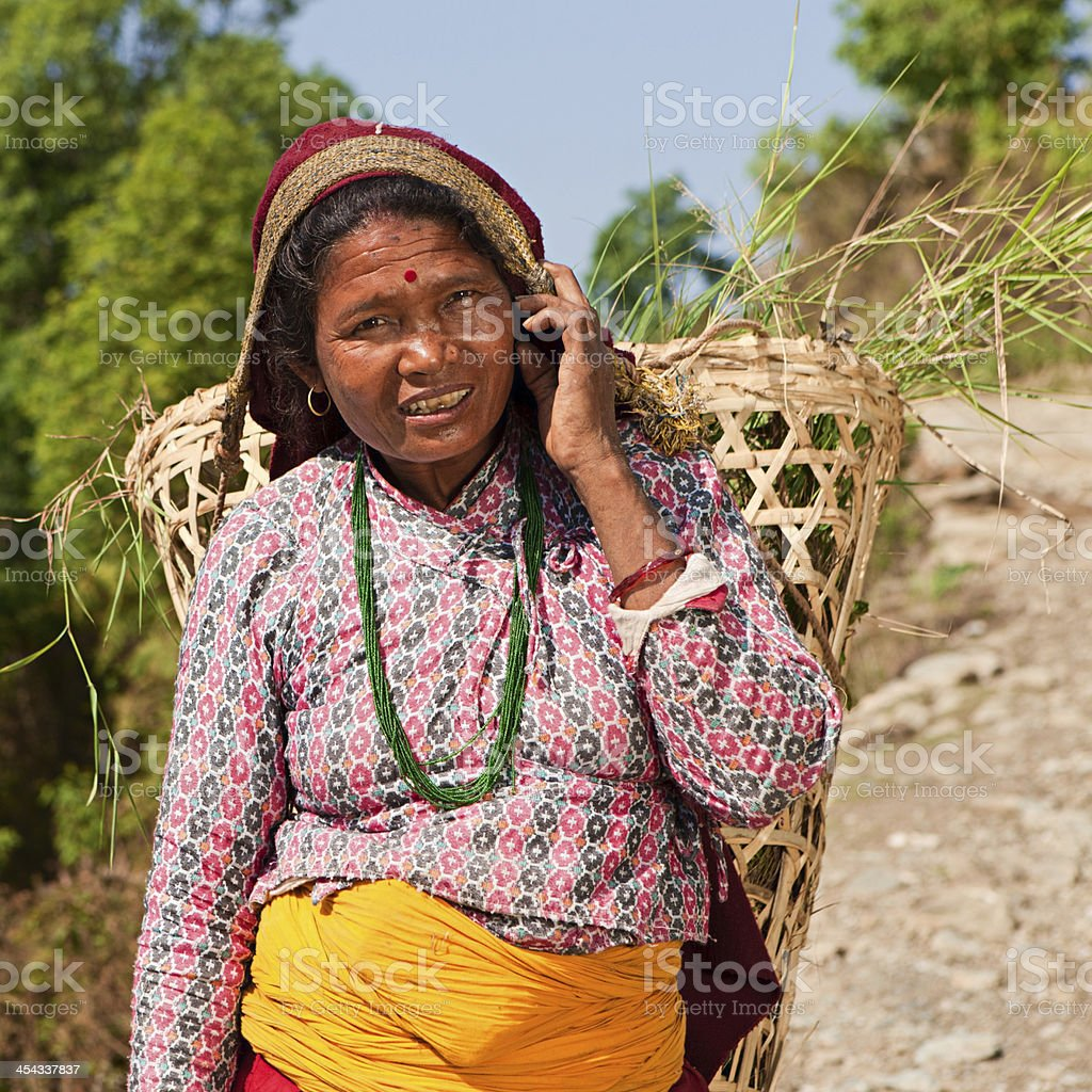 Portrait of Nepali woman royalty-free stock photo