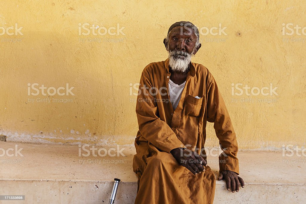 Portrait of old Muslim man in Southern Egypt royalty-free stock photo