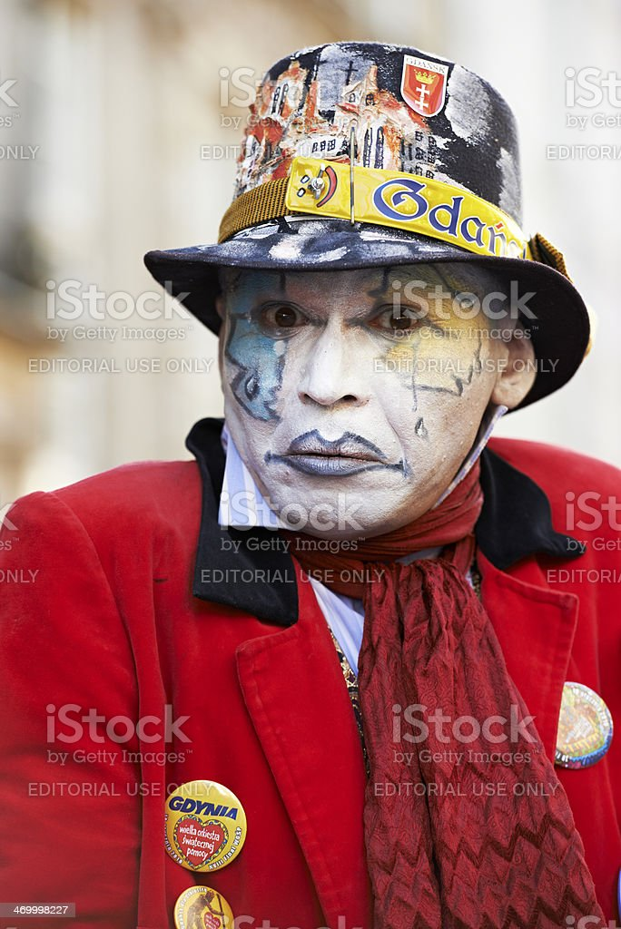 Portrait of pantomime performer royalty-free stock photo