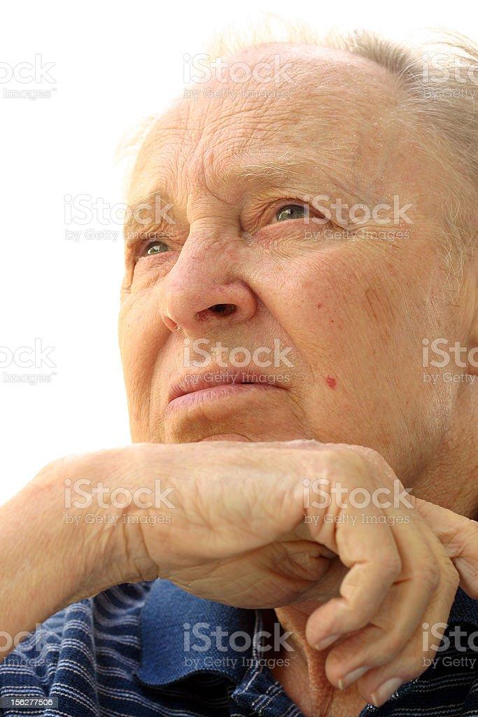 Portrait of Pensive Senior Man royalty-free stock photo