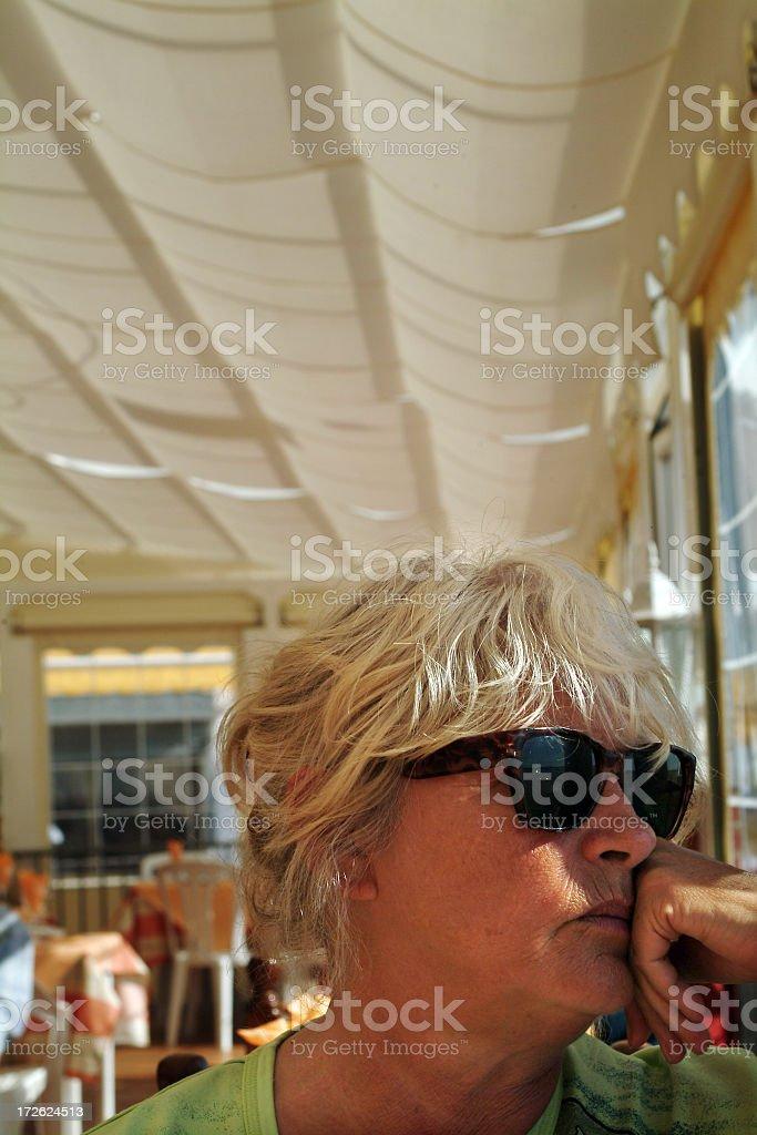 Portrait of pensive senior woman royalty-free stock photo
