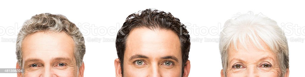 Portrait of people faces stock photo