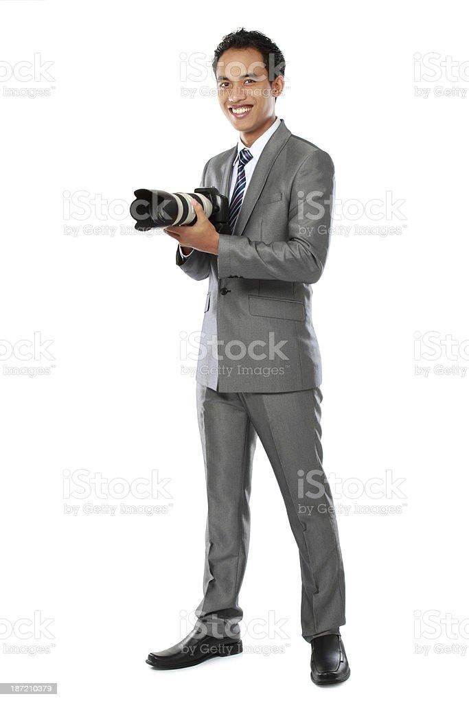 portrait of photographer royalty-free stock photo