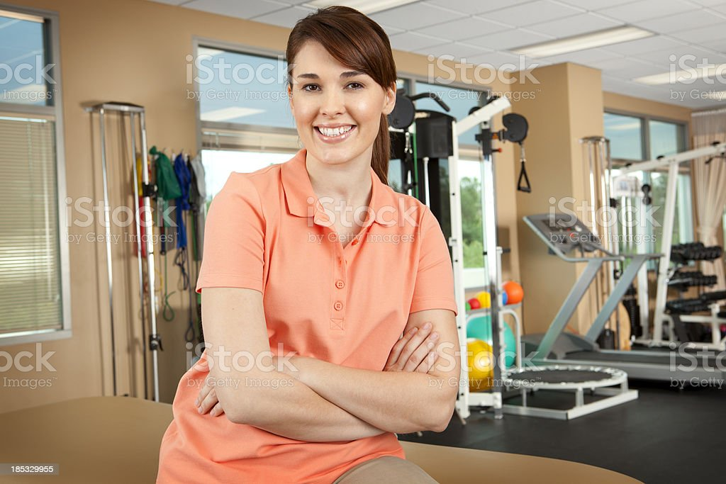 Portrait of physical therapist in a clinical setting royalty-free stock photo