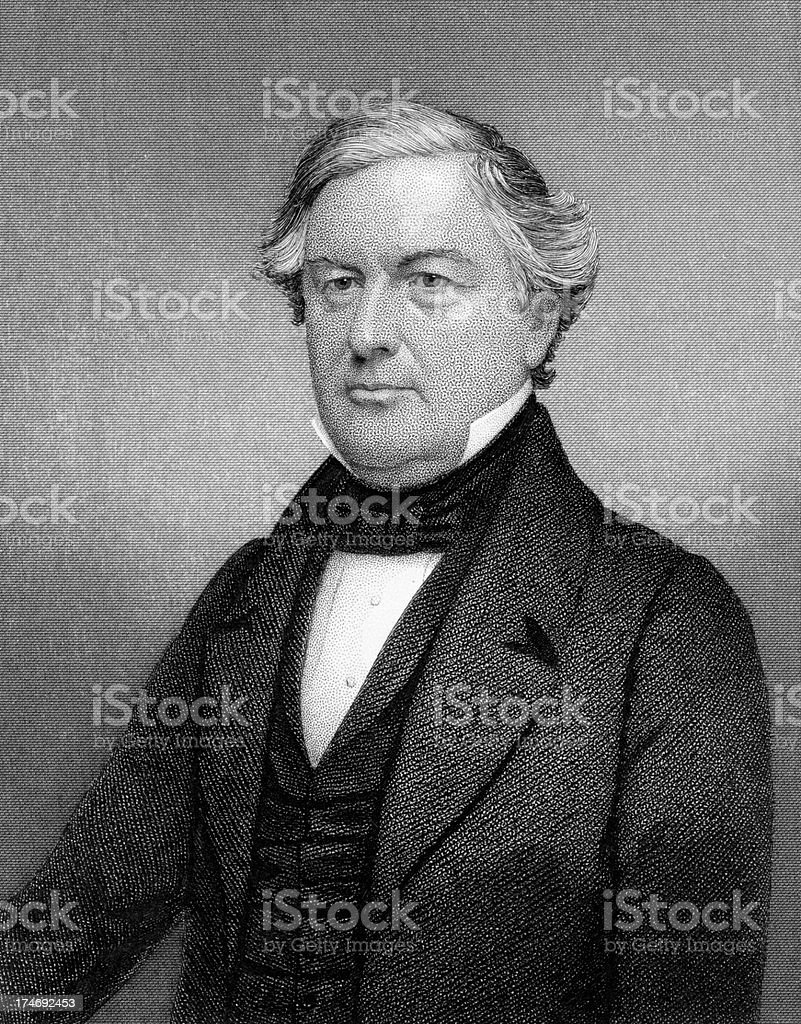 Portrait of President Millard Fillmore stock photo