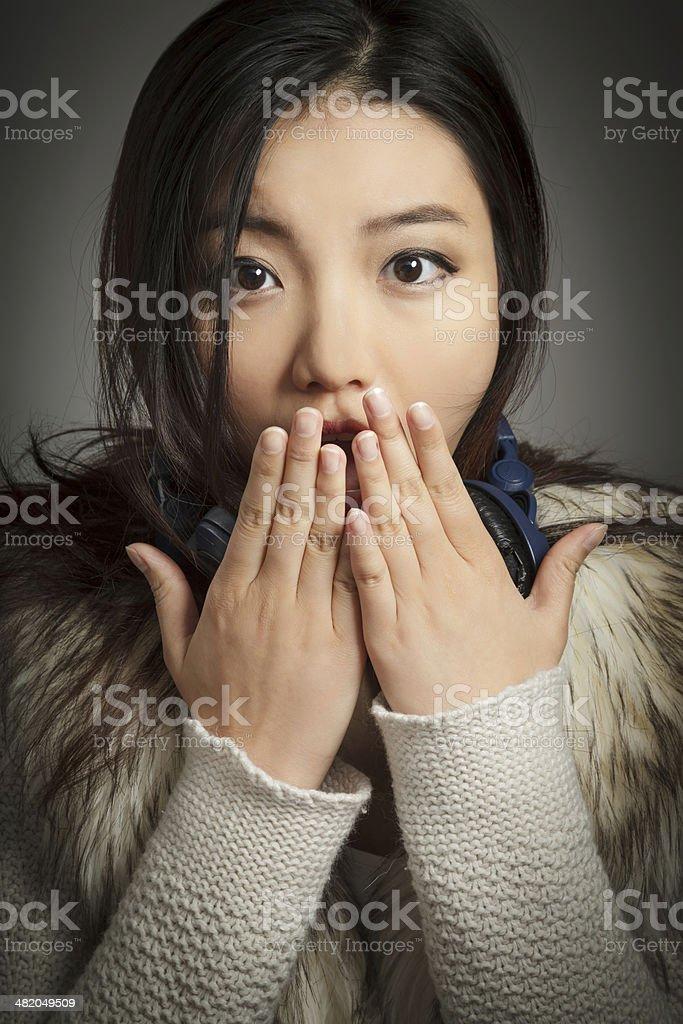 Portrait of Pretty asian woman royalty-free stock photo