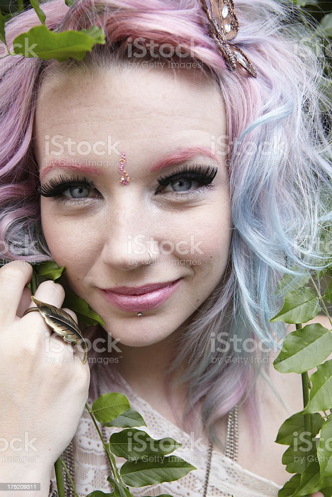 Portrait of pretty hippy woman royalty-free stock photo