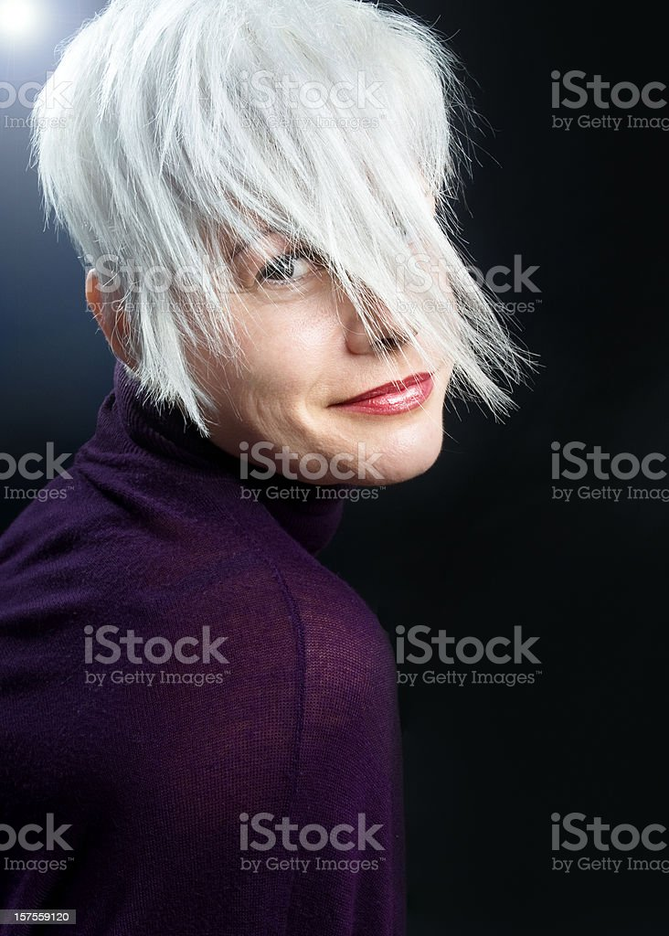 portrait of pretty woman stock photo