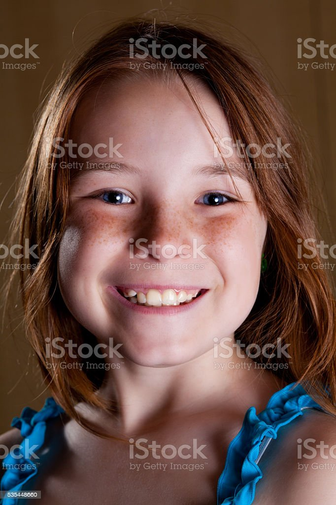 Portrait of pretty young girl stock photo