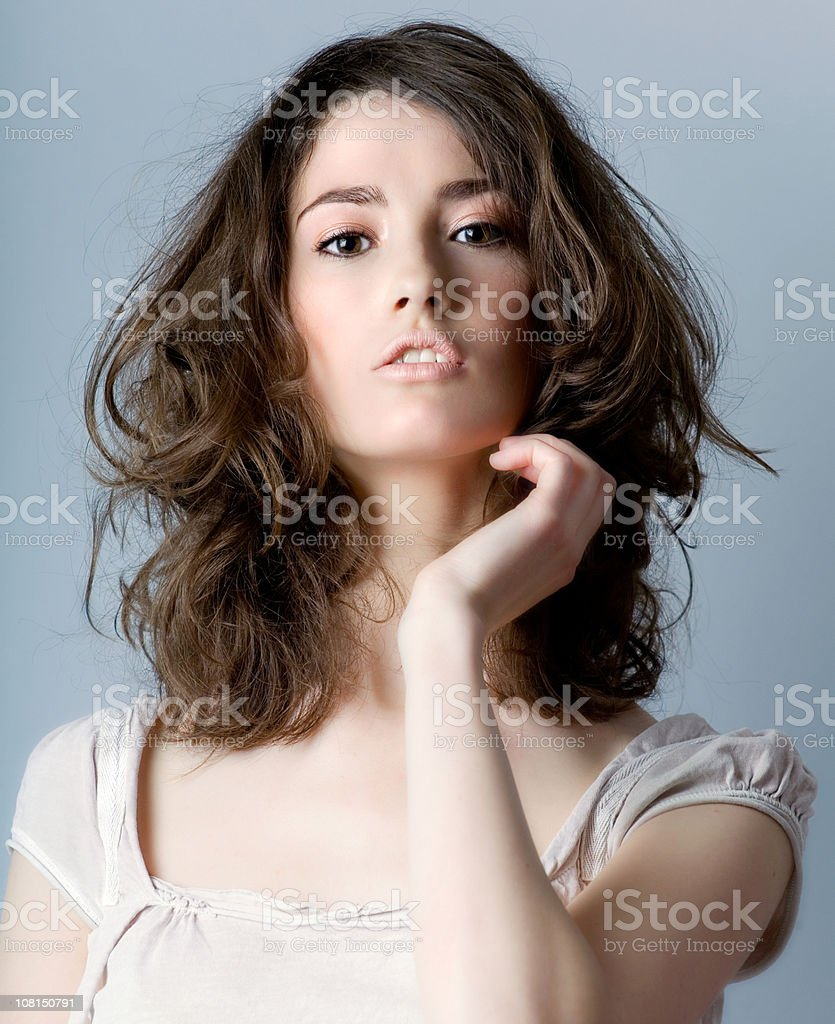 Portrait of Pretty Young Woman stock photo