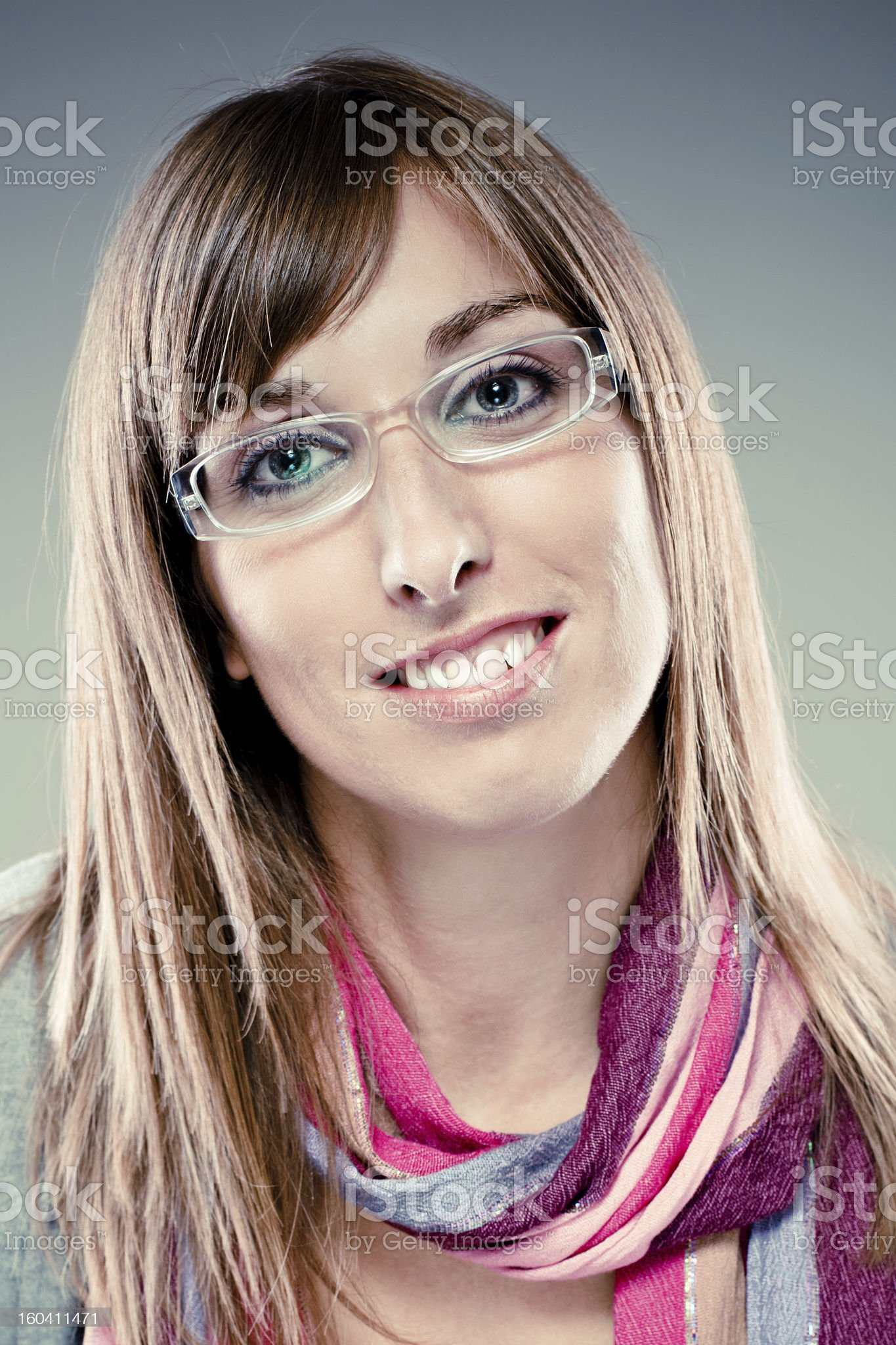 Portrait of pretty young woman royalty-free stock photo