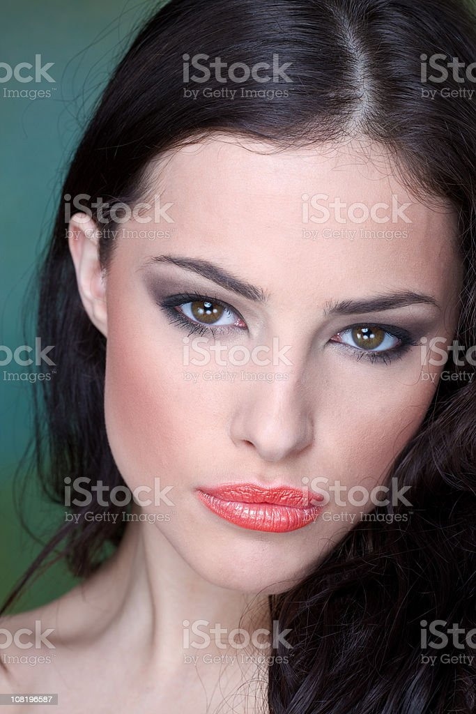 Portrait of Pretty Young Woman Wearing Make-Up royalty-free stock photo