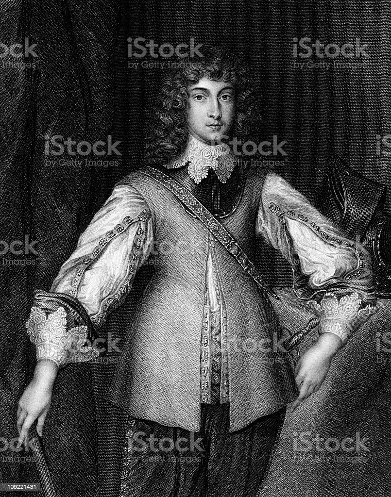 Portrait of Prince Rupert stock photo