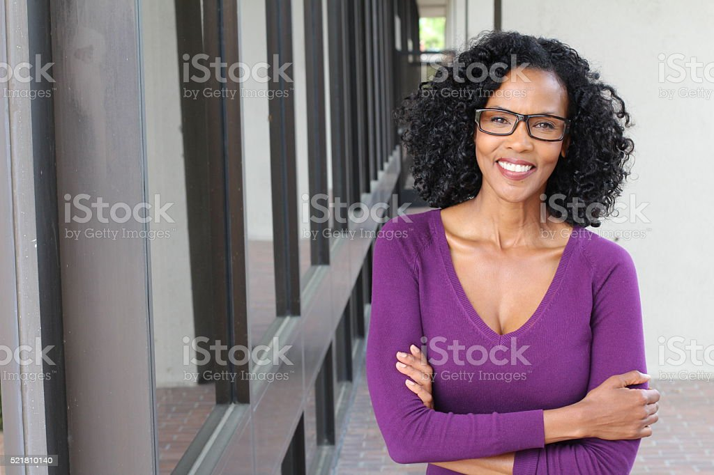Portrait of professional black businesswoman stock photo