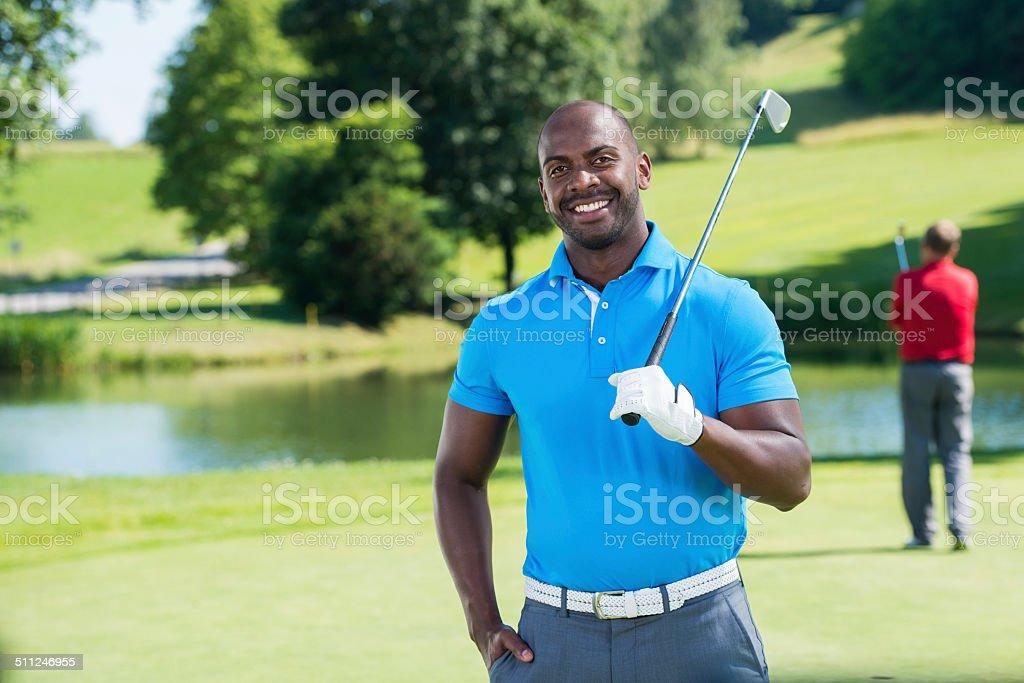 Portrait Of Professional Golf Player stock photo