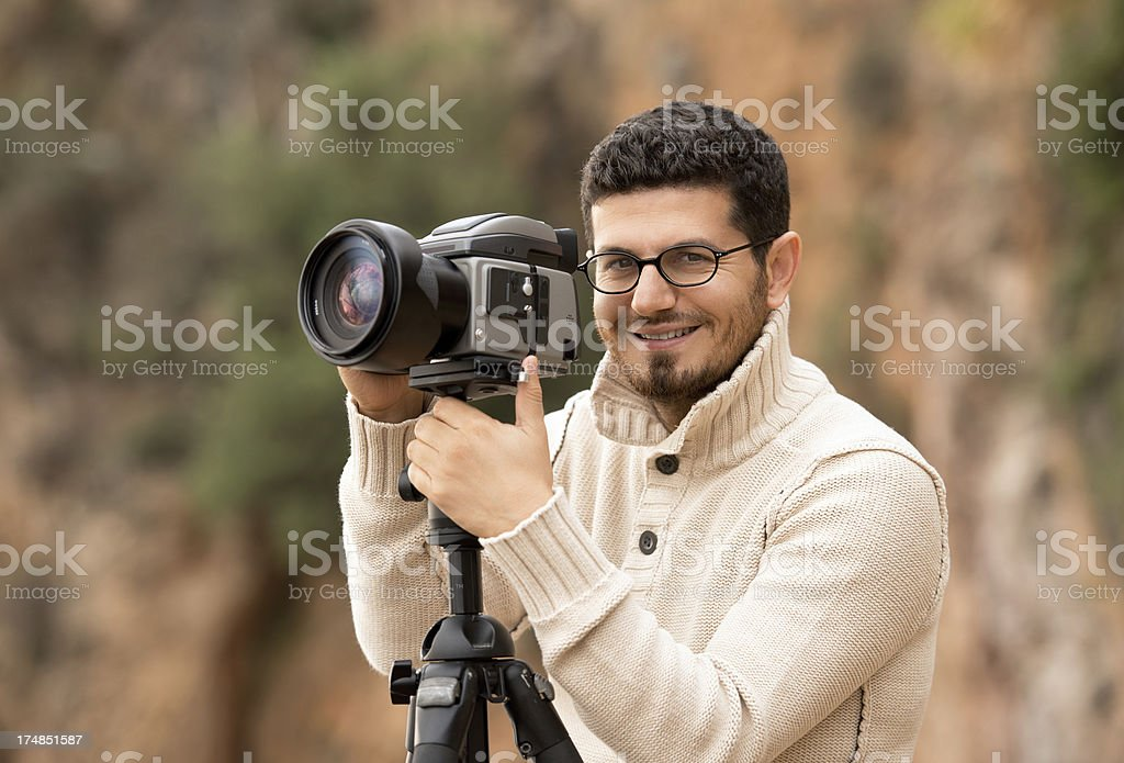 Portrait of professional photographer royalty-free stock photo