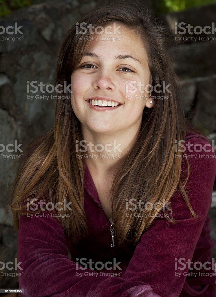 portrait of proud teenage girl royalty-free stock photo