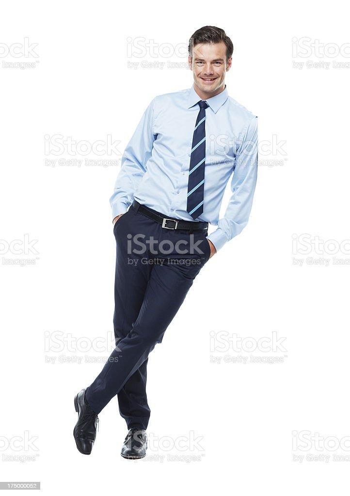 Portrait of quiet confidence stock photo