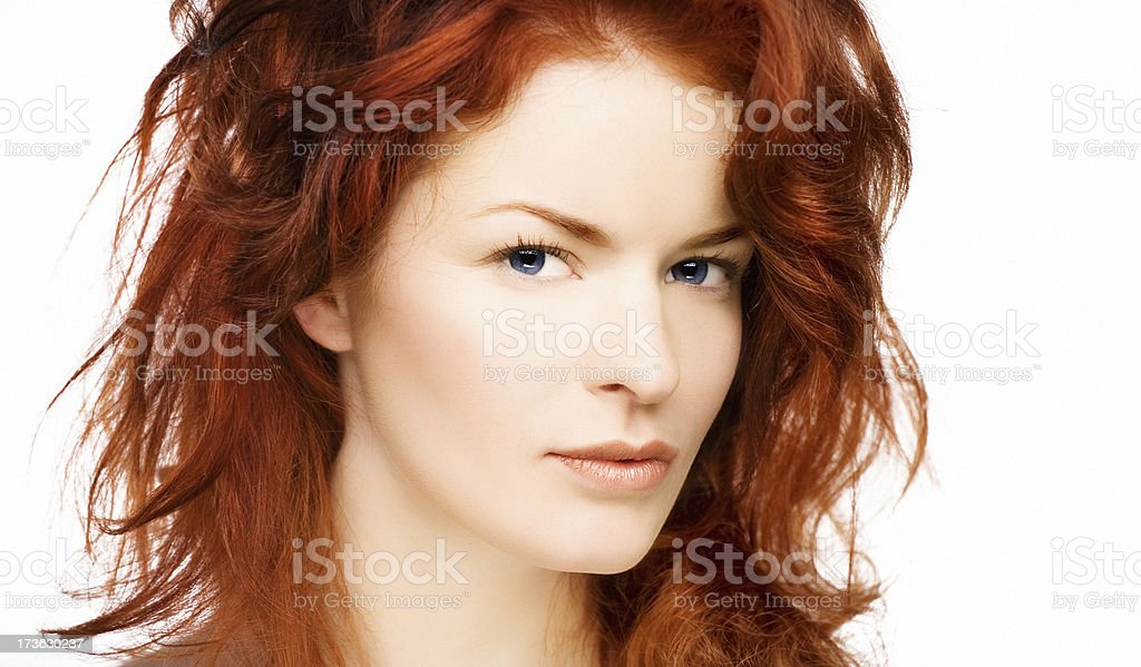 portrait of red hair woman royalty-free stock photo