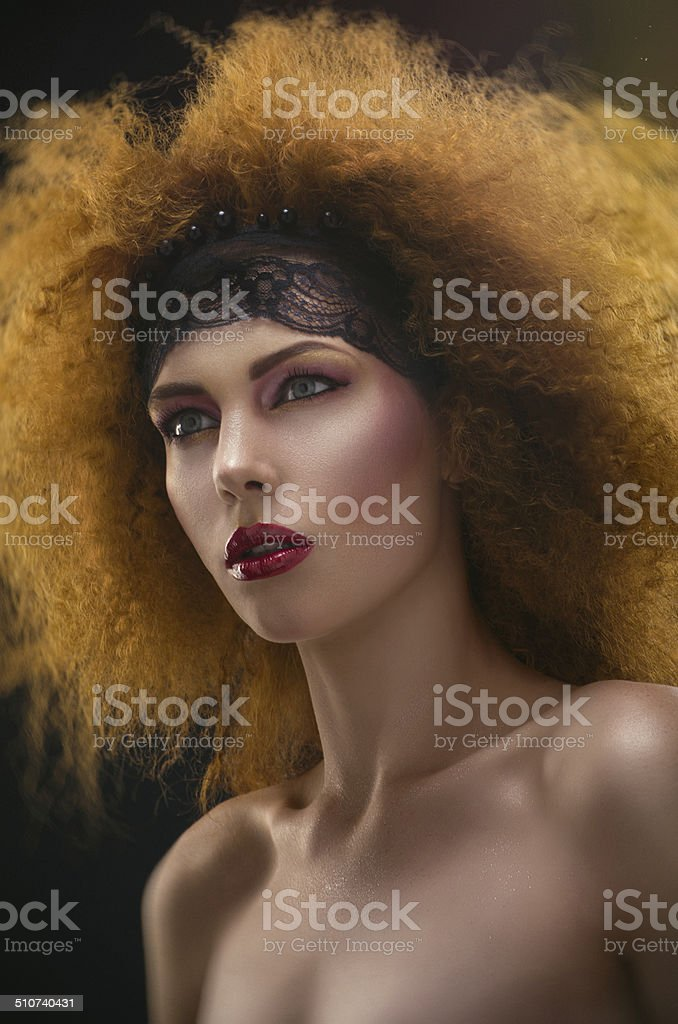 Portrait of  redhaired woman royalty-free stock photo