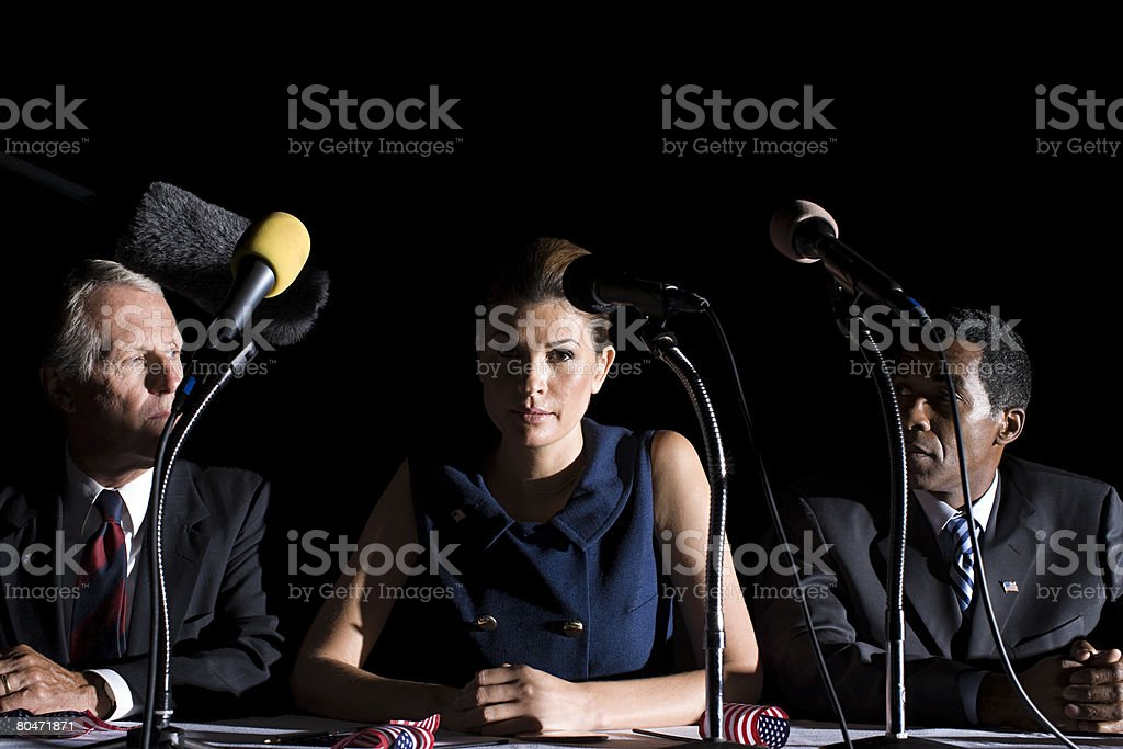 Portrait of rival politicians royalty-free stock photo