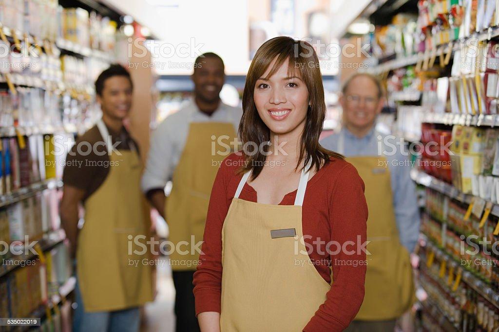 Portrait of sales assistant stock photo