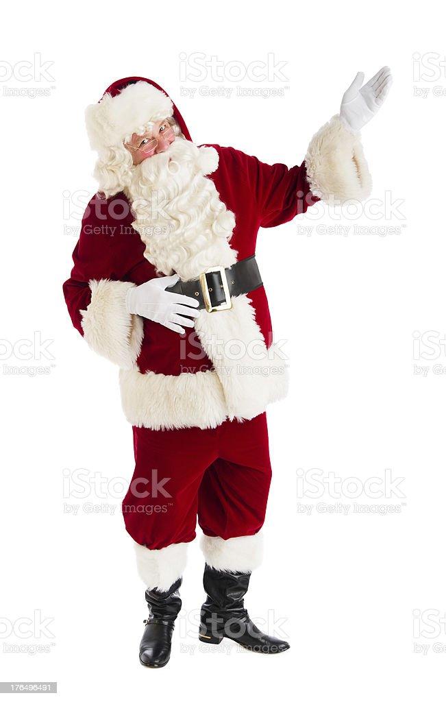 Portrait Of Santa Claus Gesturing royalty-free stock photo