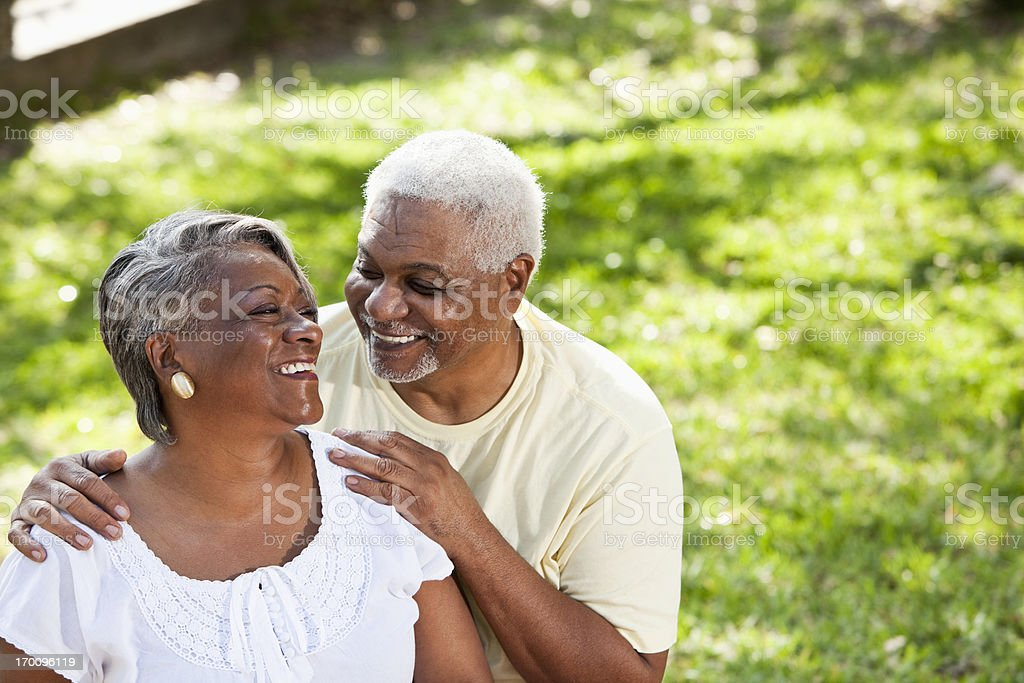 Portrait of senior African American couple royalty-free stock photo