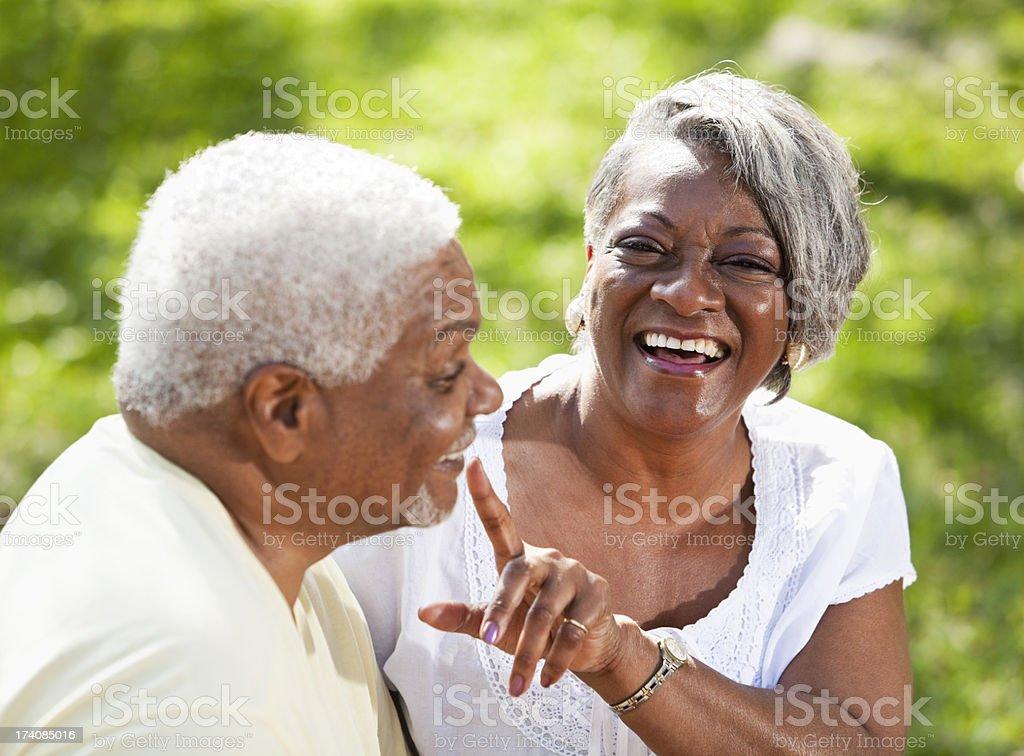 Portrait of senior African American couple stock photo