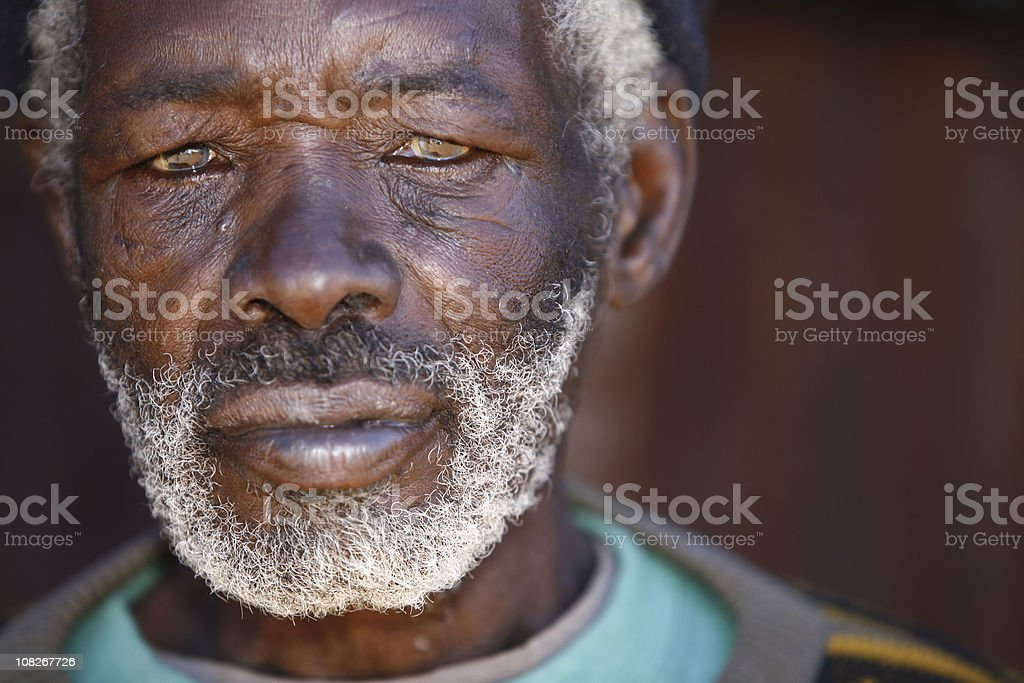 Portrait of Senior African Man royalty-free stock photo