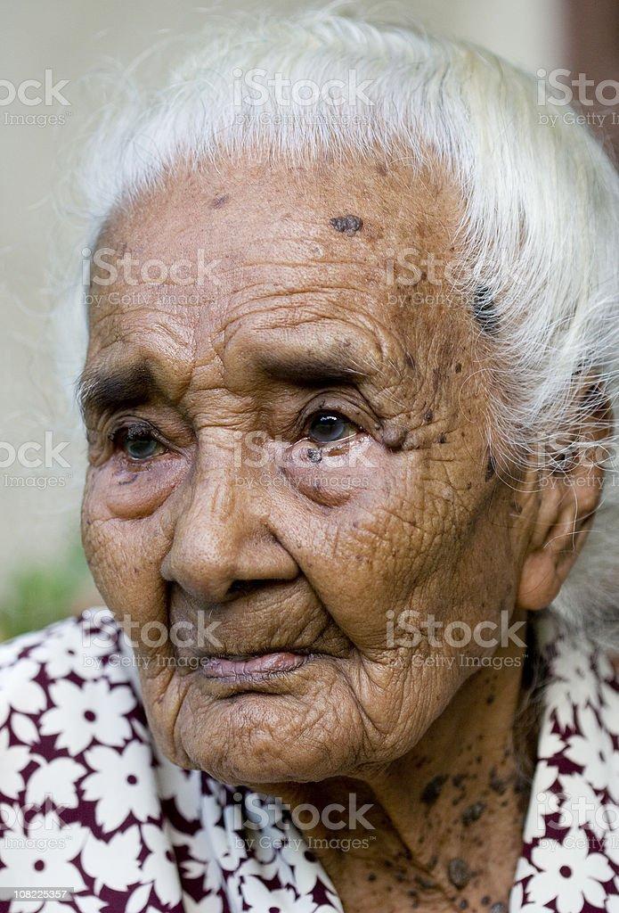 Portrait of Senior and Elderly Woman royalty-free stock photo