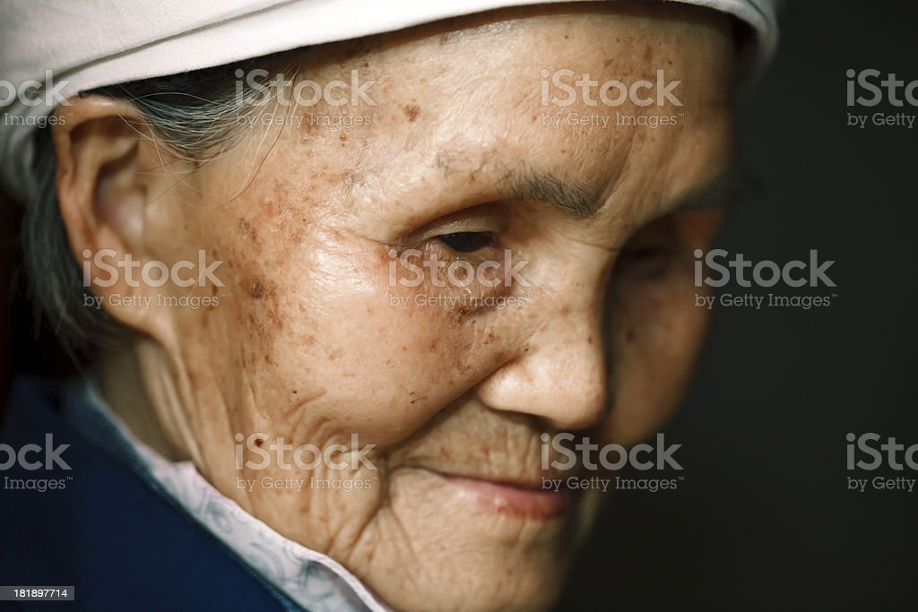 Portrait of senior blind Chinese woman royalty-free stock photo