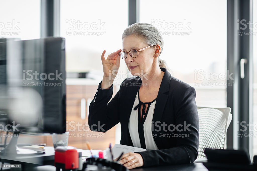 Portrait Of Senior Businesswoman stock photo