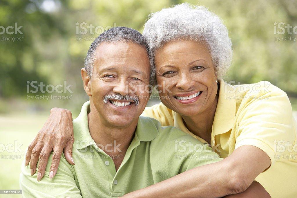 Portrait Of Senior Couple In Park royalty-free stock photo