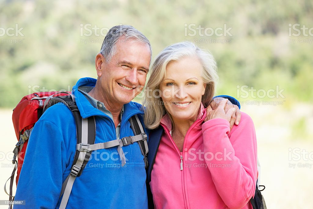 Portrait Of Senior Couple On Hike royalty-free stock photo